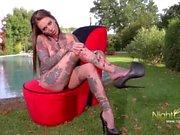 Geile Drecksau mit Tattoos Dildo Sex Action FullMovie