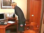 Horny Russians Fucking In An Office