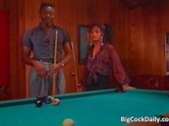 Incredible sex on pool table where