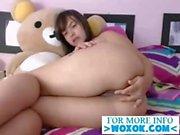 Latina teen toying her ass on cam