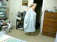 Fragmenten van mij knipperen in de badkamer en slaapkamer .