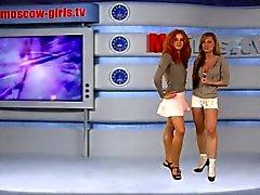 Moskau russischen TV Mädchen Julia und Olga Barz