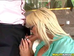 Blonde secretary Rhylee Richards gets banged by Ramon Nomar