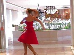 Alison Angels сексуальный Red Dress работает как