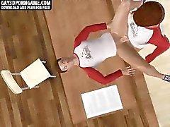 Horny 3D карикатуры стад трахает после занятия