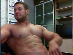 Riesige Muskel Mann Cums