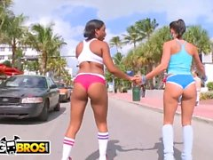 Bangbros - Roller Skating Latina del MILF Rachel Starr obtiene su gran Culo jodido