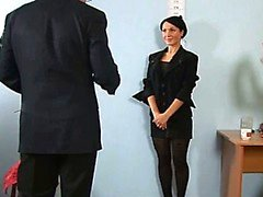 Hardcore job interview for hot secretary