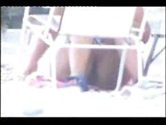 Cute teen caught getting out of her bikini on hidden cam