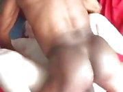 White hoe pussy fucks a big black cock