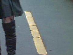 Leather slampa med Butt utsida