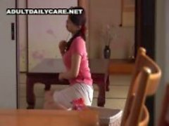 Japón madre en el culo y muchacho con el profesor privado