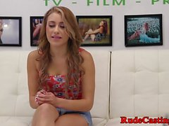 Gorgeous teen fucked at brutal casting