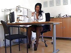 Nylon schwarz Secretary Sex ( TheNylonLover )