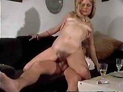 Titty Drunk Milf Gets Stretched & Creamed On A Couch