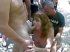 Swinger actie outdoor
