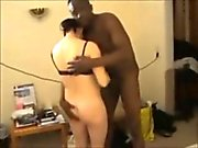 hubby filming his wife creampied by black