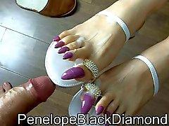 Di Penelope Black Diamond Giochi di piedi