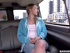 Riley Reynolds shows her natural boobs on Bang Bus