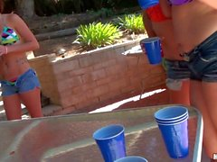 Pool party and hot orgy with Vicky Vixen and Staci Silverstone
