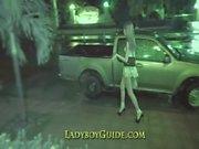 Thailand Ladyboy- wichst Süße Hahn