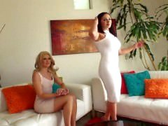 Lea Lexis and Anikka Albrite like cum