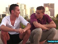 Big dick twink anal sex and cum in ass