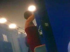 Naked next door girls spied in locker room