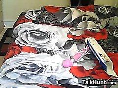 Jeune fille britannique avec un Hitachi rose Wand