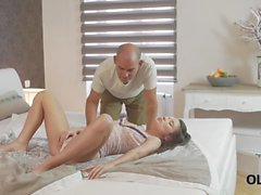 OLD4K. Old lover nicely analyzes pretty colleen Anita B in bedroom