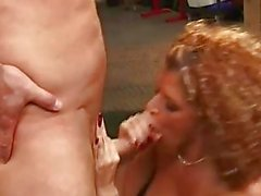 Saucy slut Joslyn James is hungry for meat