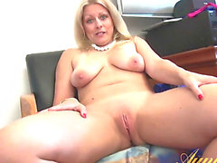 Golden-Haired Housewife With Saggy Wobblers Acquires Interviewed Being Bare