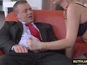 European pornstar threesome with facial cum