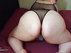 BBW Shakes Fat Ass in Dessous
