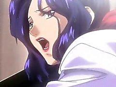 Emocionada de la señora de Hentai golpeaba de su escritorio
