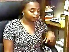 Ebony Secretary Tyra Butts Sucks...