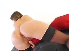 Anal whore in heels bum fucking hard
