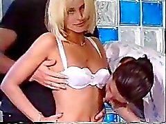 Blonde Visits Italian Men's Club