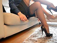 2 heta sexiga sekreterare ser hyllningar ( FF nylon )