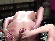 Very sexy brunette cumming hard