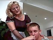 Hot and sexy blonde mature maid gets nasty with her boss