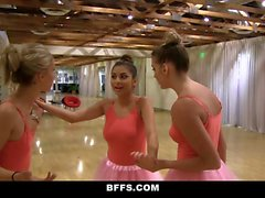 BFFS Cute Petite Ballerina Fucked By her Friends