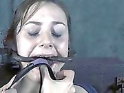 Gagged beauty made to submit