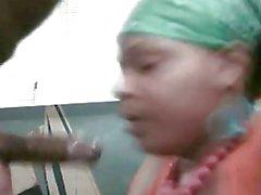 Ebony Amateur Deepthroat Practice