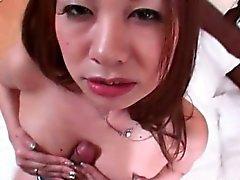Hot asie collège ado en donnant masturbation et la baise mésange