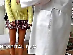 Skinny teen physical exam on spy video
