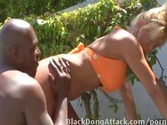 Brumeux sont faire baiser à la piscine
