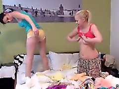 Incredible blonde anal and creampie first time Best mates sl