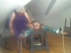 Jean auf horizontalen Quer