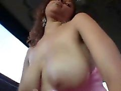 Curly redhead humping shaft in the sex bus